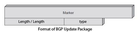 Format of BGP update package