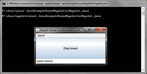 Sound in Java Swing Example