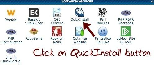 quickinstall for wordpress