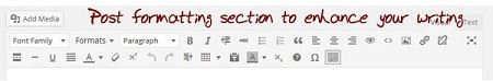 Post formatting section